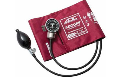 Large Adult (34-50cm) Burgundy Pocket Aneroid Sphygmomanometer by American Diagnostic ADC