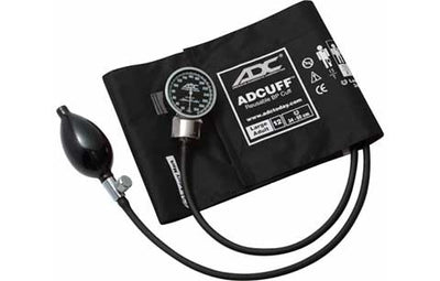 Large Adult (34-50cm) Black Pocket Aneroid Sphygmomanometer by American Diagnostic ADC