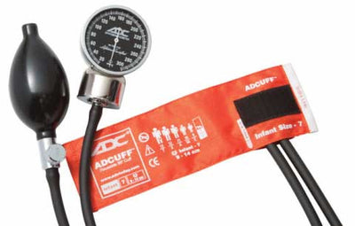 Infant (9-14cm) Orange Pocket Aneroid Sphygmomanometer by American Diagnostic ADC