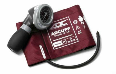 Diagnostix 703 Series Adult Size Burgandy Palm Aneroid Sphyg by American Diagnostic ADC