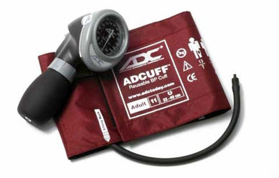 Diagnostix 703 Series Adult Size Red Palm Aneroid Sphyg  by American Diagnostic ADC