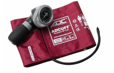 Diagnostix 703 Series Large Adult Size Burgandy Palm Aneroid Sphyg by American Diagnostic ADC