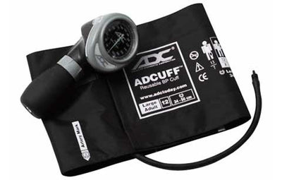 Diagnostix 703 Series Large Adult Size Black Palm Aneroid Sphyg by American Diagnostic ADC