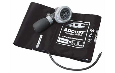 Diagnostix 703 Series Thigh Size Black Palm Aneroid Sphyg by American Diagnostic ADC