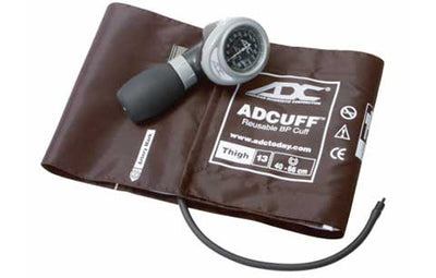 Diagnostix 703 Series Thigh Size Brown Palm Aneroid Sphyg by American Diagnostic ADC