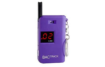 BACtrack Purple Keychain Ultra-Portable Breathalyzer