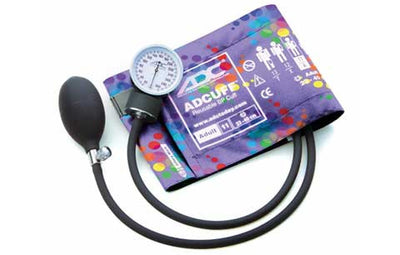Prosphyg Adult Size Peters Blue Swirly Pocket Aneroid sphyg by American Diagnostic Corporation ADC