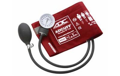 Prosphyg Adult Size Red Pocket Aneroid Sphygmomanometer by American Diagnostic Corporation ADC
