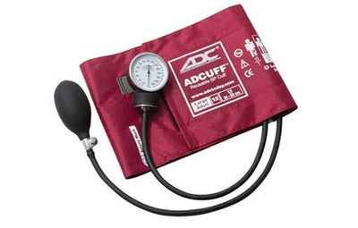 Prosphyg Large Adult Size Burgandy Pocket Aneroid sphygby American Diagnostic Corporation ADC