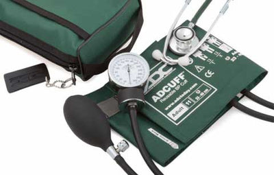768-670 Series Pro's Combo II Pocket Adult Hunter Green Aneroid Sphygmomanometer / Scope by American Diagnostic Corporation ADC