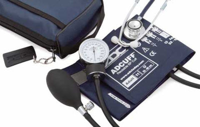 768-670 Series Pro's Combo II Pocket Adult Navy Aneroid Sphygmomanometer / Scope by American Diagnostic Corporation ADC