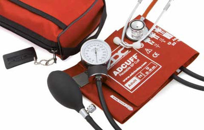 768-670 Series Pro's Combo II Pocket Adult Orange Aneroid Sphygmomanometer / Scope by American Diagnostic Corporation ADC