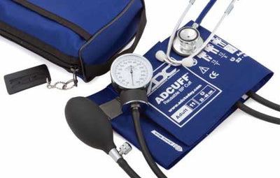 768-670 Series Pro's Combo II Pocket Adult Royal Blue Aneroid Sphygmomanometer / Scope by American Diagnostic Corporation ADC