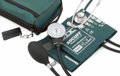 768-670 Series Pro's Combo II Pocket Adult Teal Aneroid Sphygmomanometer / Scope by American Diagnostic Corporation ADC