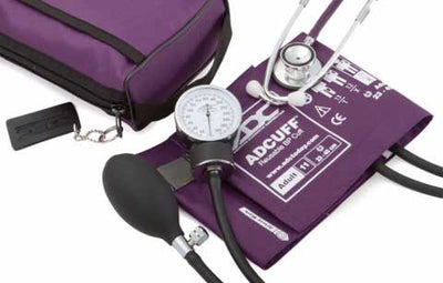 768-670 Series Pro's Combo II Pocket Adult Purple Aneroid Sphygmomanometer / Scope by American Diagnostic Corporation ADC