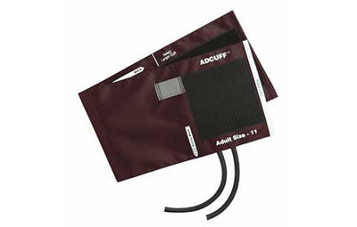 American Diagnostic Corporation ADC 845 Series Adcuff Adult Burgandy Cuff & Bladder, 2 Tube