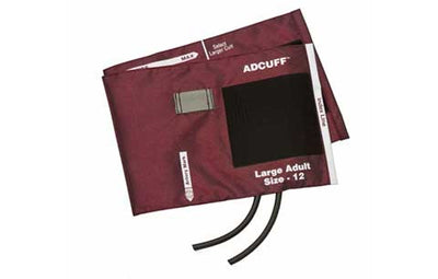 American Diagnostic Corporation ADC 845 Series Adcuff Large Adult Burgandy Cuff & Bladder, 2 Tube