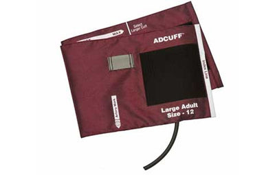 American Diagnostic Corporation ADC Adcuff 845 Series Large Adult Burgandy Cuff & Bladder, 1 Tube