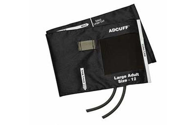 American Diagnostic Corporation ADC 845 Series Adcuff Large Adult Black Cuff & Bladder, 2 Tube