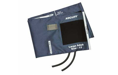 American Diagnostic Corporation ADC 845 Series Adcuff Large Adult Navy Cuff & Bladder, 2 Tube