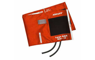 American Diagnostic Corporation ADC 845 Series Adcuff Large Adult Orange Cuff & Bladder, 2 Tube