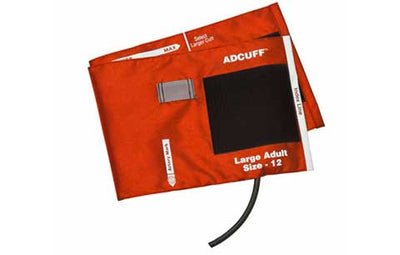 American Diagnostic Corporation ADC Adcuff 845 Series Large Adult Orange Cuff & Bladder, 1 Tube