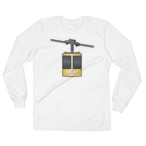 Men's Emoji Long Sleeve T-Shirt - Aerial Tramway-Just Emoji