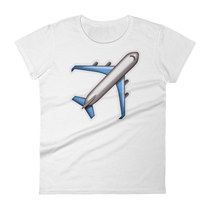 Women's Emoji T-Shirt - Airplane-Just Emoji