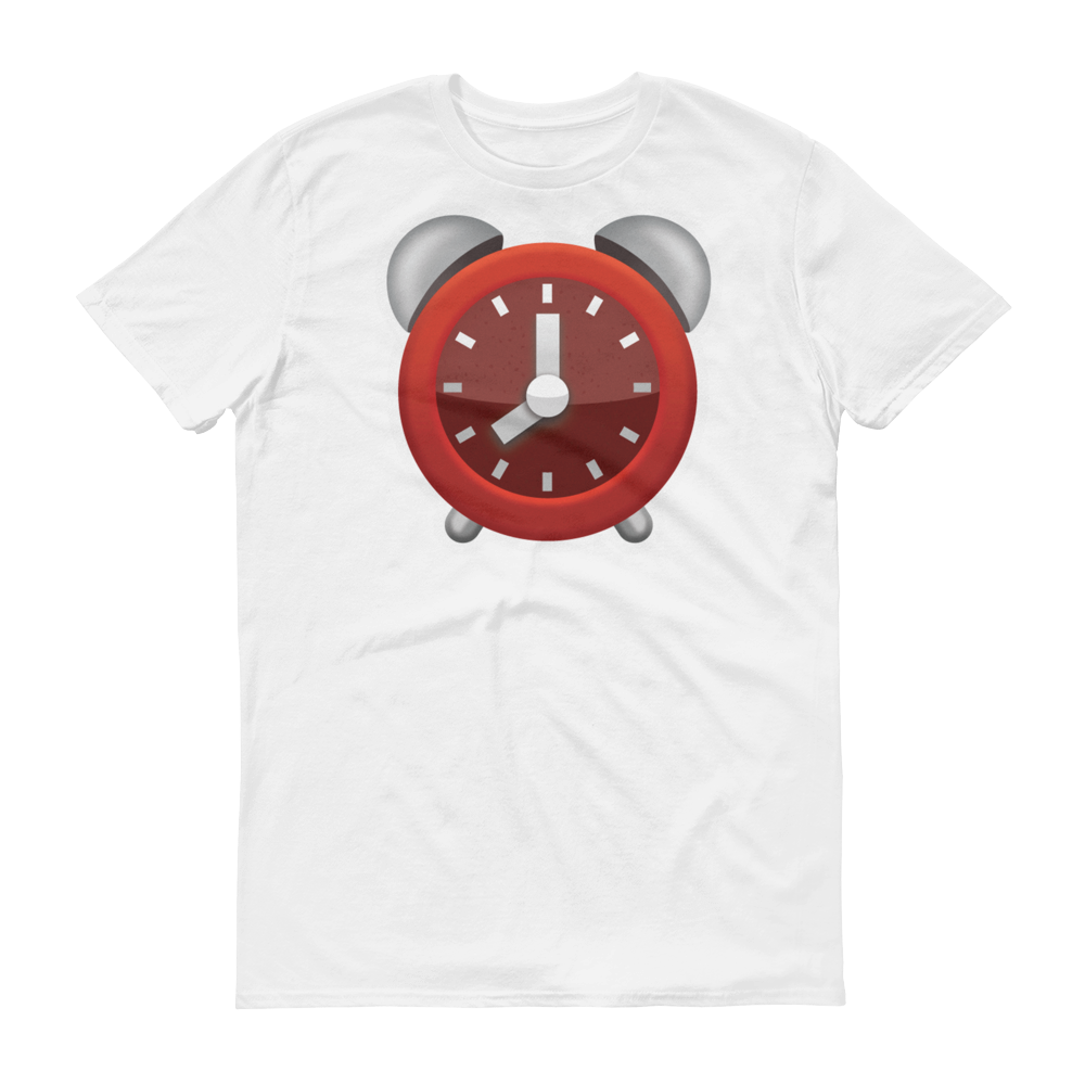 Men's Emoji T-Shirt - Alarm Clock-Just Emoji