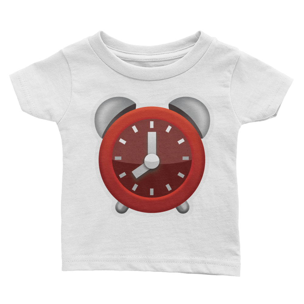 Emoji Baby T-Shirt - Alarm Clock-Just Emoji