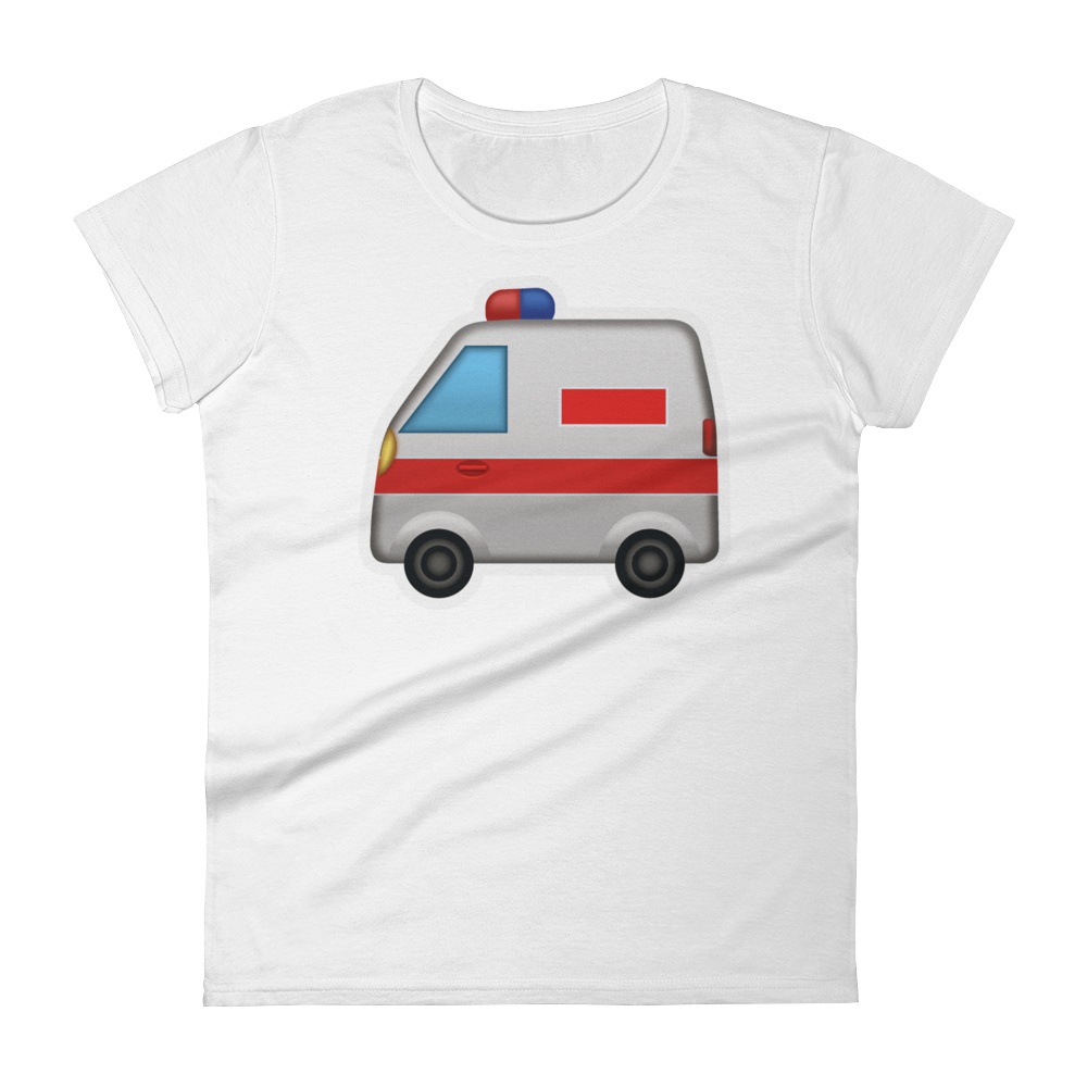 Women's Emoji T-Shirt - Ambulance-Just Emoji