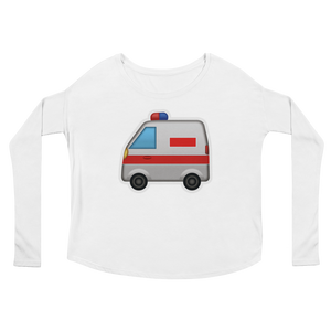 Women's Emoji Long Sleeve T-Shirt - Ambulance-Just Emoji