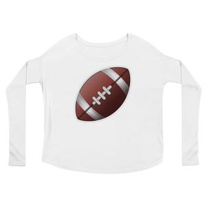 Women's Emoji Long Sleeve T-Shirt - American Football-Just Emoji