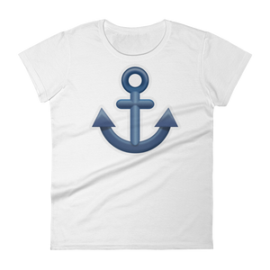 Women's Emoji T-Shirt - Anchor-Just Emoji