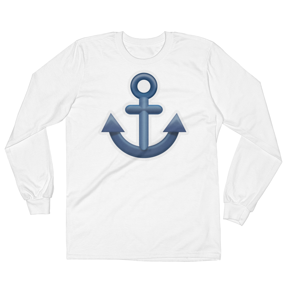 Men's Emoji Long Sleeve T-Shirt - Anchor-Just Emoji