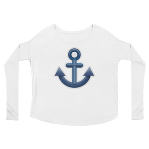 Women's Emoji Long Sleeve T-Shirt - Anchor-Just Emoji