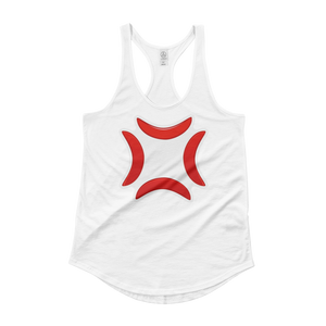 Women's Emoji Tank Top - Anger Symbol-Just Emoji