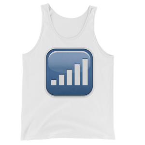 Men's Emoji Tank Top - Antenna With Bars-Just Emoji
