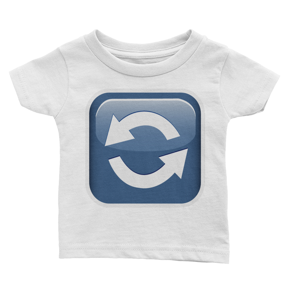 Emoji Baby T-Shirt - Anticlockwise Downwards And Upwards Open Circle Arrows-Just Emoji