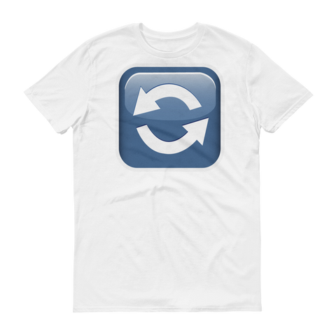 Men's Emoji T-Shirt - Anticlockwise Downwards And Upwards Open Circle Arrows-Just Emoji