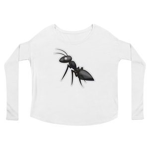 Women's Emoji Long Sleeve T-Shirt - Ant-Just Emoji