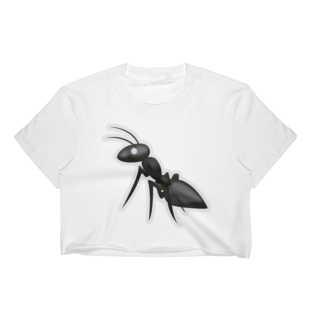 Emoji Crop Top T-Shirt - Ant-Just Emoji