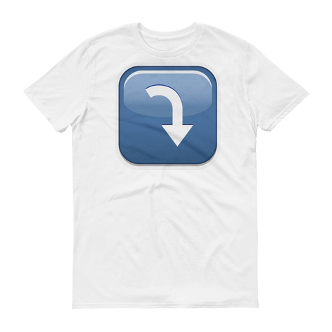 Men's Emoji T-Shirt - Arrow Pointing Rightwards Then Curving Downwards-Just Emoji