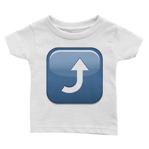 Emoji Baby T-Shirt - Arrow Pointing Rightwards Then Curving Upwards-Just Emoji