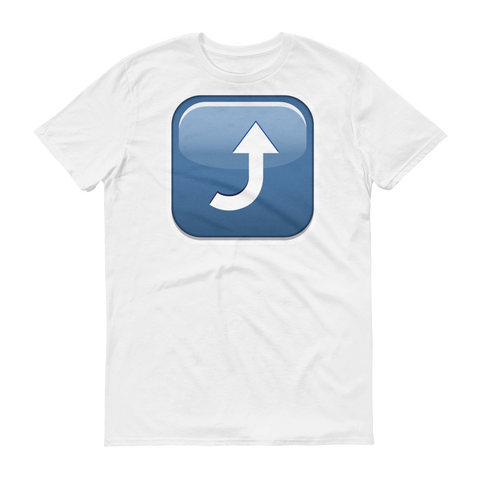 Men's Emoji T-Shirt - Arrow Pointing Rightwards Then Curving Upwards-Just Emoji