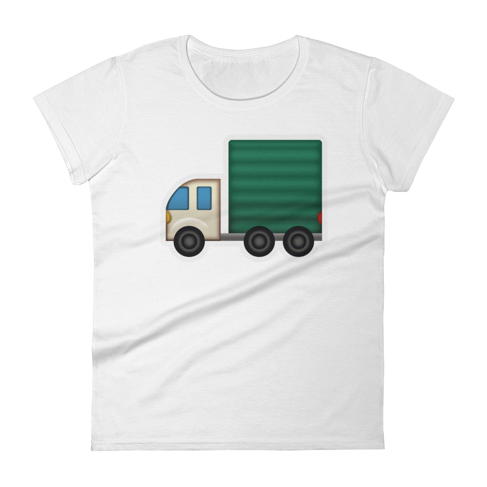 Women's Emoji T-Shirt - Articulated Lorry-Just Emoji