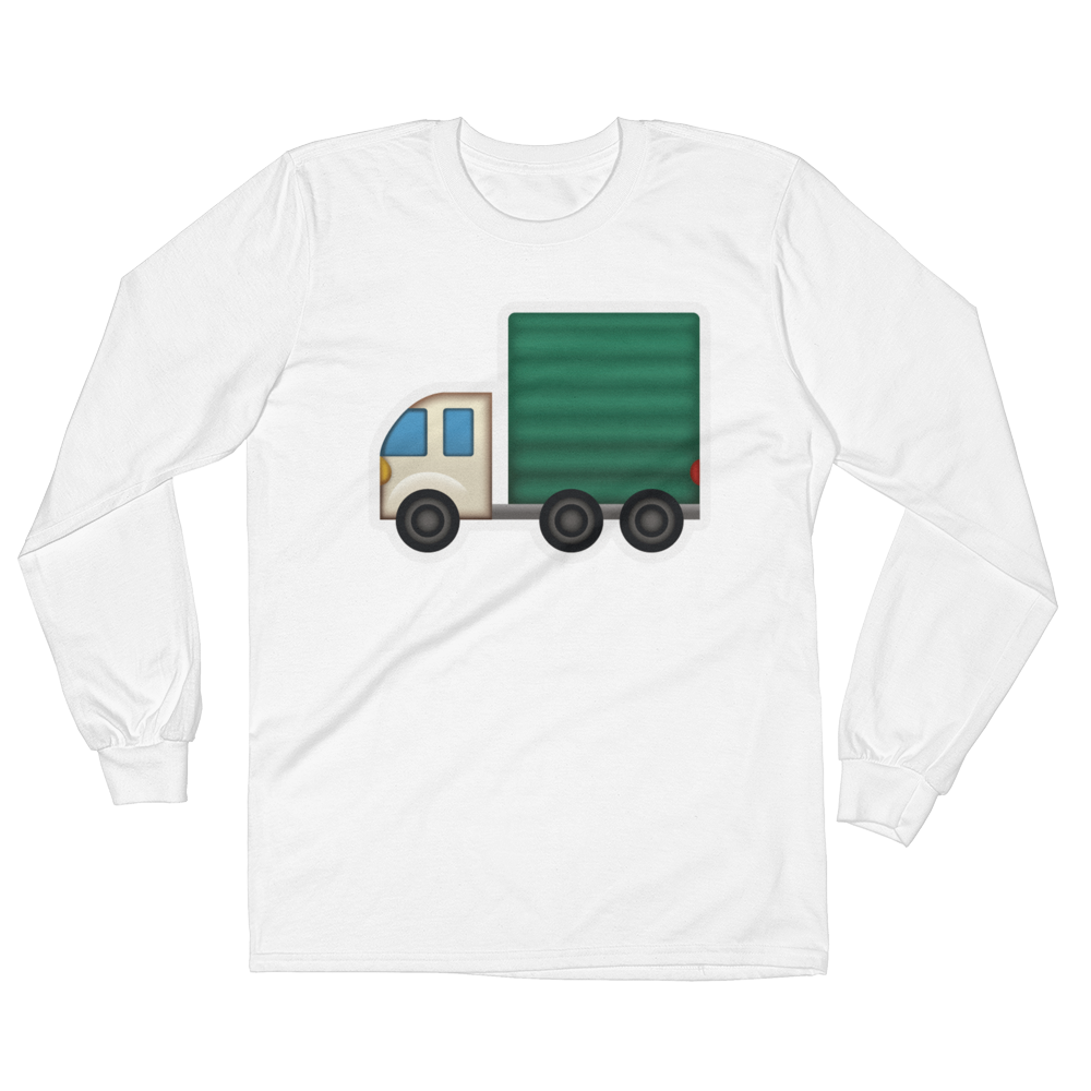Men's Emoji Long Sleeve T-Shirt - Articulated Lorry-Just Emoji