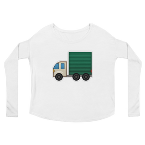 Women's Emoji Long Sleeve T-Shirt - Articulated Lorry-Just Emoji