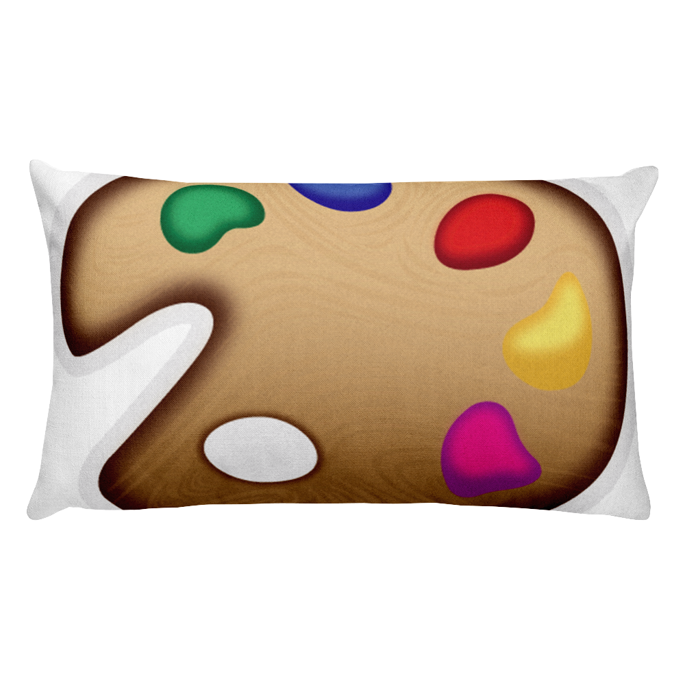 Emoji Bed Pillow - Artist Palette-Just Emoji