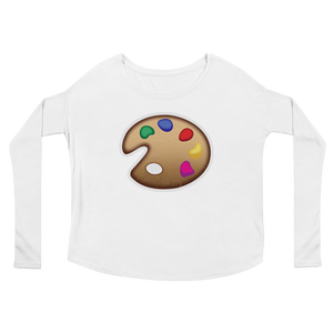 Women's Emoji Long Sleeve T-Shirt - Artist Palette-Just Emoji